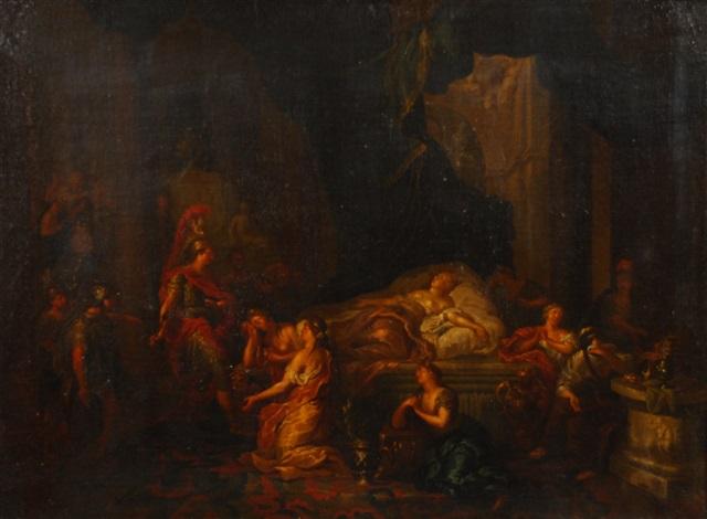 les adieux d'antoine à cléopâtre by cornelis van poelenburgh