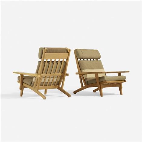 Lounge Chairs Model Ge375, Pair By Hans J. Wegner