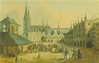 marktplatz von lübeck by karl kollmann