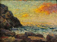 coastal cliffs, monhegan by joseph b. kahill