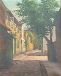 village street by frederik wilhelm svendsen