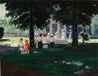 the picnic party by august frederick lundberg