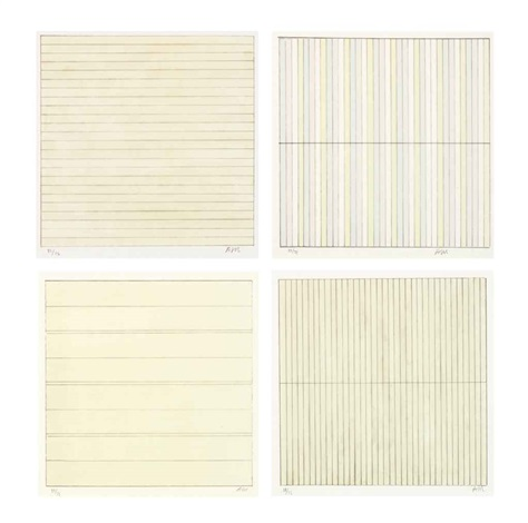 untitled set of 4 by agnes martin