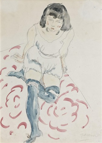 modèle assis by jules pascin