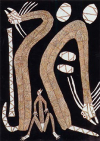 rainbow serpents and mimihs by peter nabarlambarl