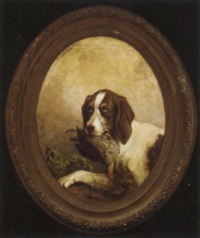 a hound with a partridge by gustav zick