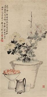秋色蟹肥图 by liu xiling
