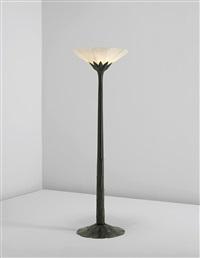 rare torchère standard lamp by albert cheuret