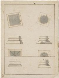 prospetti e piante di capitelli by giuseppe valadier