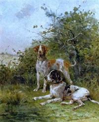 chiens de chasse au relais by rené valette