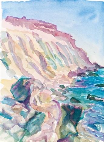 sisyphos steine aufwärts wälzend by maria lassnig