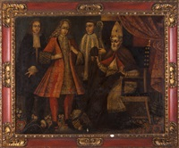 bishop with his court by portuguese school (18)