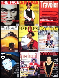 various magazine covers series (9 works) by iké udé