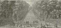 vue de la grande cascade dans les jardins de marly by jacques rigaud
