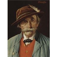tyrolean gentlemen (pair) by franz xavier wölfle
