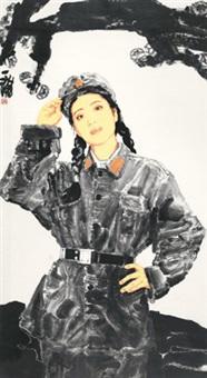 中国女兵之二 by huang yihan