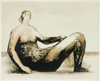 reclining woman iv by henry moore