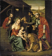 the adoration of the magi by nicolás borrás