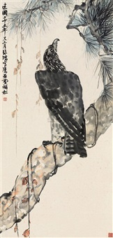 松鹰图 (eagle) by wang yachen and xu beihong