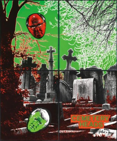 cemetery heads in 4 parts by gilbert george