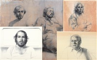 drawings (set of 4) by steven assael