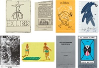 artists bookplates (the complete series of eight sets of bookplates) by various artists