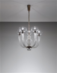 five-armed chandelier, model no. 5320 a 5 by carlo scarpa