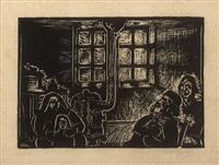 ilustração para o livro humilhados e ofendidos (f. m. dostoievski) by oswald goeldi