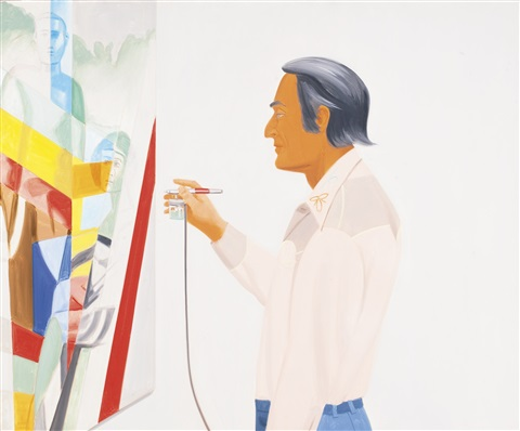 larry rivers painting by alex katz