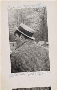 jack kerouac dans central park by robert frank