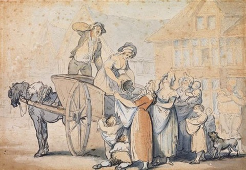 the pea cart by thomas rowlandson