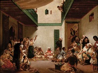 a jewish wedding in morocco (after eugene delacroix) by jules (joseph augustin) laurens
