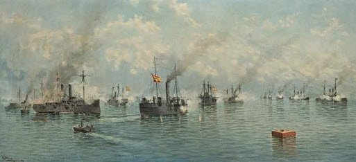 the battle of manila bay by alfonso sanz