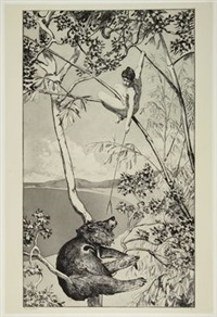 bär und elfe (l'orso e l'elfo) (from the series intermezzi. opus iv) by max klinger