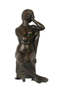 seated girl by g. volpe