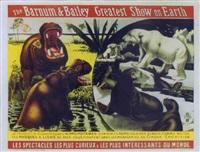 barnum & bailey. de féroces hippopotames, d'énormes ours polaires blancs comme neige by posters: circus