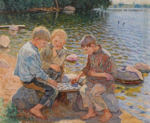 chess players by nikolai petrovich bogdanov belsky