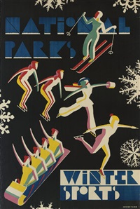 national parks, winter sports by dorothy waugh