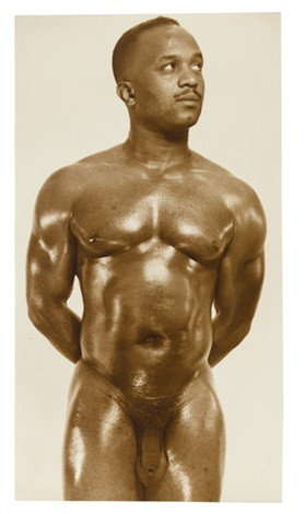 bodybuilder melvin wells suite of 3 works by lon of new york