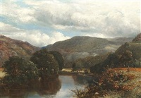 the church pool, river conway, betws-y-coed by james poole