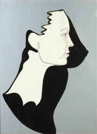 ombre portée. portrait de françoise merckx by evelyne axell