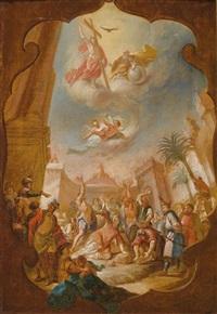 das martyrium des heiligen stephanus by bartholomäus altomonte