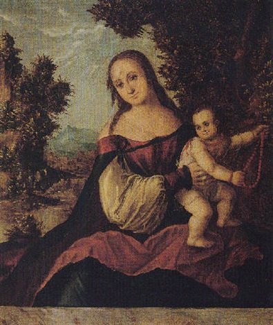 the virgin and child in a landscape by danube school 16