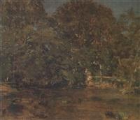 le gué de montboulan by léon adolphe auguste belly