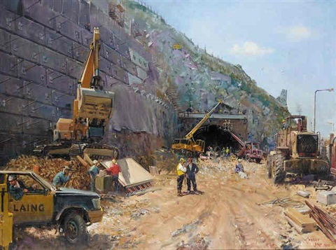 pen y clip conway by terence cuneo