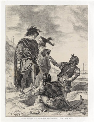hamlet set of 13 by eugène delacroix