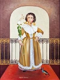 niña con flores by alejandro camarena