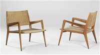 armchairs, model no. 167 (pair) by carl auböck