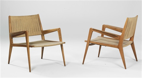 armchairs model no 167 pair by carl auböck