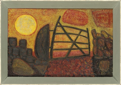 gate with rising sun cornwall 2 others 3 works by anne e christopherson